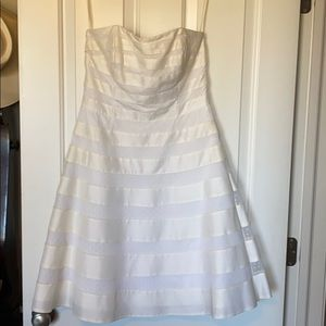 WHBM white strapless dress